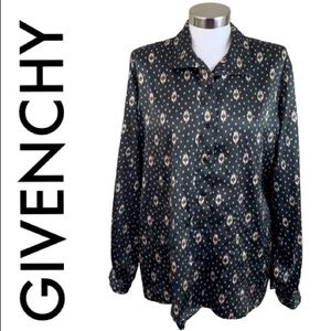 GIVENCHY VINTAGE BLACK TAG BLOUSE SIZE XL